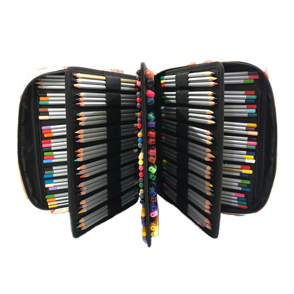 Pencil Bag Solid Color Oxford Cloth Large Capacity Pencil Case Sketch Pencil Color Storage Bag Stationery Bag School Office Supplies