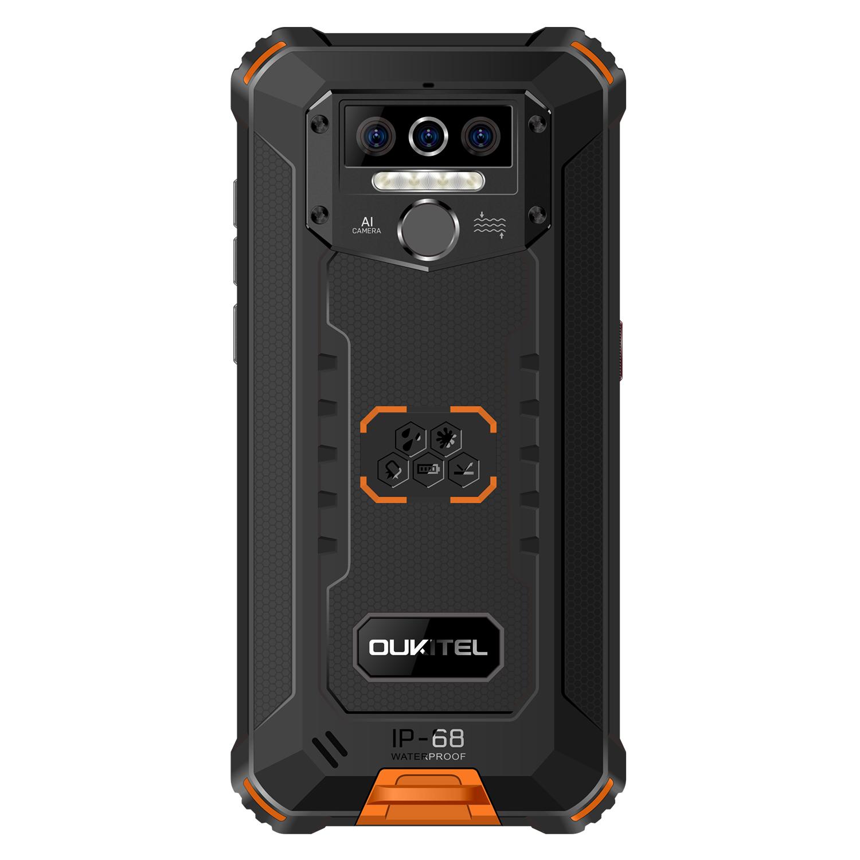 OUKITEL WP5 America Version 5.5 inch IP68 Waterproof 8000mAh Android 10 13MP Triple Camera 4GB 32GB MT6761 4G Rugged Smartphone