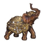 Desktop Decoration Elephant Statue Wealth Golden Resin Figurine Vintage Ornament