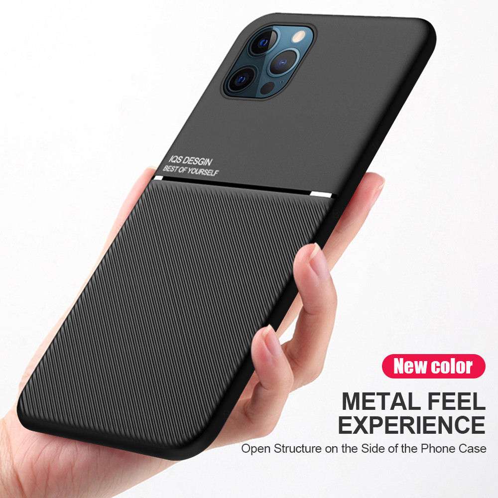 Bakeey for iPhone 12 Mini Case Magnetic Leather Texture Non-Slip TPU Shockproof Protective Case Back Cover