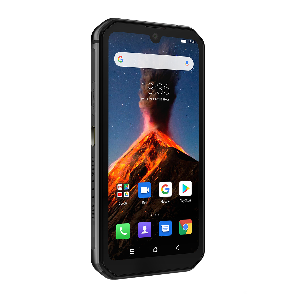 Blackview BV9900 Global Bands IP68/IP69K Waterproof 5.84 inch FHD+ NFC 4380mAh Android 9.0 48MP Quad Rear Camera 8GB 256GB Helio P90 4G Smartphone