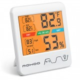 MOHOO Indoor Thermometer Hygrometer Digital Hygrometer Thermometer Temperature and Humidity Meter with Backlight for Room Home Greenhouse