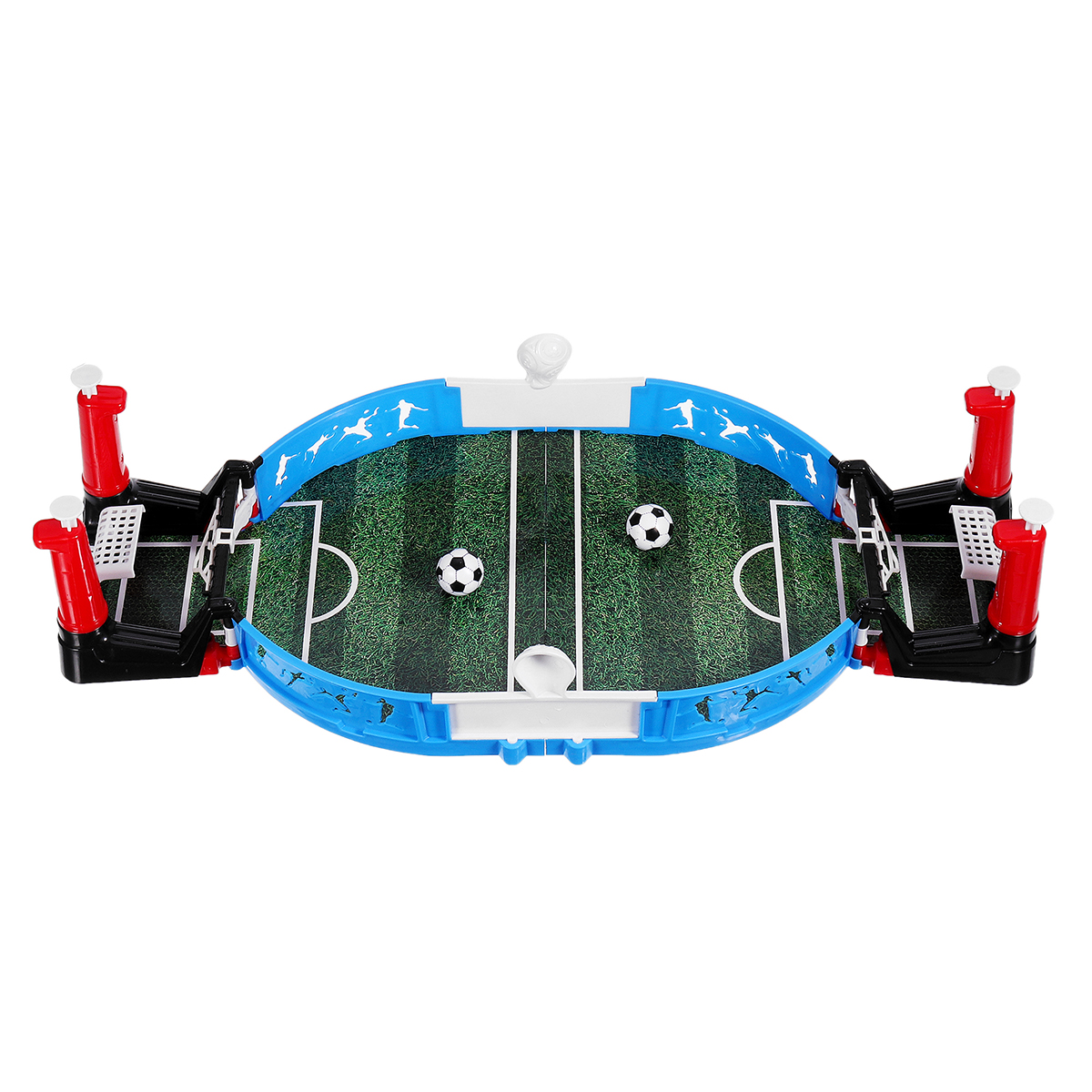 Mini Tabletop Soccer Game Double Players Family Party Interactive Tabletop Football Toy