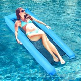 2×0.7M Inflatable Water Hammock Sofa Floating Bed Air Mattresses No Pump Needed Portable Floats Lounger Chair For Summer Swimming Pool Beach Travel