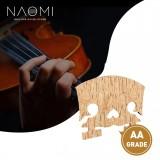 NAOMI 1PC Master AA Grade Snow Flake Like Maple Violin Bridge With E Ebony Inlay Fit For 4/4 Size Violin