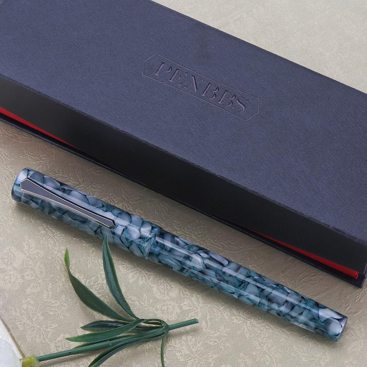 1 pcs Magnetic Piston Ink Absorption Pen EF F Nib 0.5mm Resin Fine Fountain Pen Business Writing Ink Pen