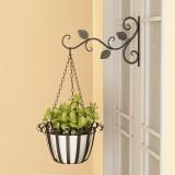 Wall Hanging Flower Stand Outdoor Balcony Hanging Basket Stand Green Radish Hanger Wrought Iron Hook Hanger
