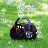 Mini Bubble Blower Stage LED Lamp Romantic Wireless Automatic Bubble Machine Great for Wedding Birthday Parties