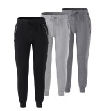 Men's Jogging Bottoms Cotton Drawstring Pants Casual Sports Trousers Slim Trousers Outdoor Fitness Hiking