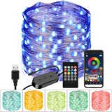 2020 Christmas Decor LED String Light Festoon Fairy Light APP Remote Control Color Changing Garland for Home Christmas Party New Year Decor Lamp
