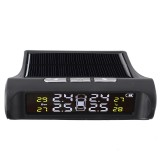 TPMS Tire Pressure Monitoring System Sensors Real-time Display Solar USB Powered