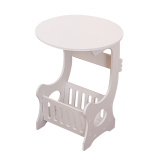 Creative Bedside Table End Table Mini Garden Small Round Table Tea Table with Storage Basket