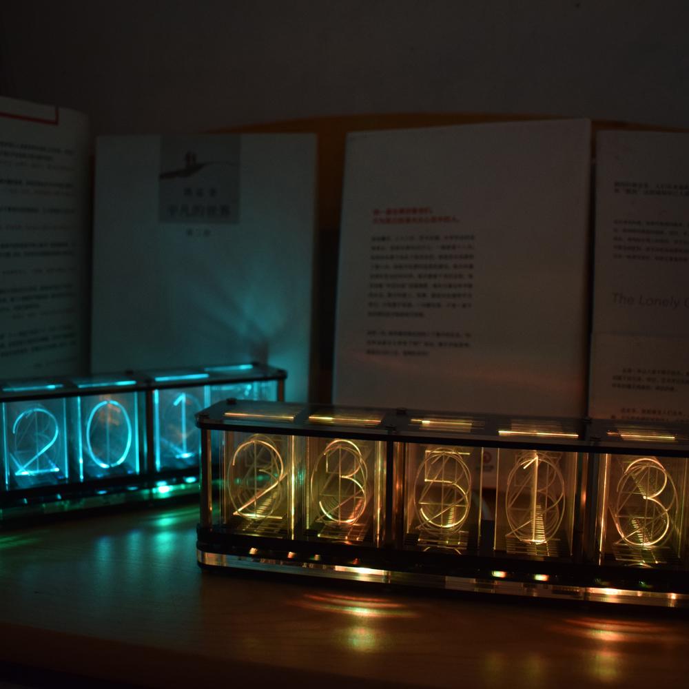 Geekcreit Imitate Glow Clock Full Color RGB Glow Tube Clock LED Music Spectrum Kit