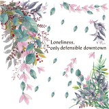 DIY Tropical Flower Leaves Branch Wall Sticker Decals Decor Removable Decal Kid for Home Office