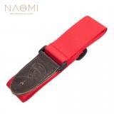 NAOMI Guitar Strap Guitar Accessories Adjustable Shoulder Strap Red Color Musical Instrument Accessories