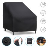 """54x38x29"""" Furniture Large Patio Seat Cover Waterproof Anti-UV Dustproof Durable Table Chair Cover Lounge Deep Chair Cover Patio Loveseat Cover Oxford Cloth Cover Outdoor Garden"""
