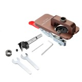 Drillpro Aluminum Alloy Quick Set 35mm Hinge Jig Woodworking Pocket Hole Jig With 35mm Hole Opener and Quick Acting Toggle Clamp For Drilling Guide Locator Puncher Tools