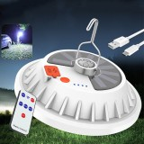 XANES 2-in-1 300W Solar LED Camping Light Remote Control Tent Light Hang Fishing Night Light Emergency Work Lamp Power Bank