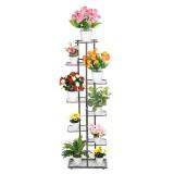 Multi-Layer Metal Plant Stand Flower Pot Organizer Shelf Decorations Display Rack Holder Bookshelf for Indoor Outdoor Patio Garden Corner Balcony