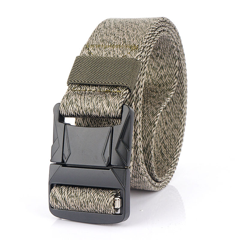 AWMN Nylon 125x3.8cm Tactical Belt Heavy-Duty Quick-Release Metal Buckle Belt