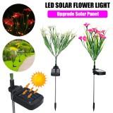 LED Solar Flower Lawn Light Outdoor Garden Stake Lamp Landscape Lighting Yard Decor