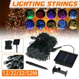 12M/22M/32M/52M Outdoor LED Solar String Light 8 Modes Waterproof Home Decorative Lawn Lamp