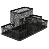 Black Mesh Style Pen Pencil Ruler Holder Desk Office Storage Box Stationery Container Box Office School Supplies
