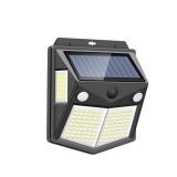 260LED Outdoor Solar Light IP65 Waterproof Motion Sensor Solar Light Garden Courtyard Passage Security Lighting Black