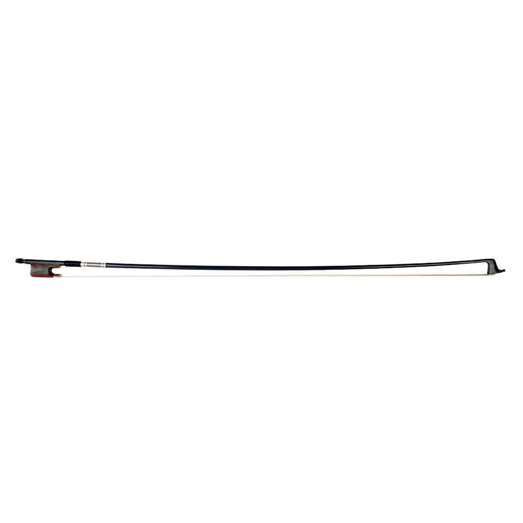 NAOMI Advanced Carbon Fiber 16'' Viola Bow Grid Carbon Fiber Stick Natural Horsehair W/ Ox Horn Frog Durable Use