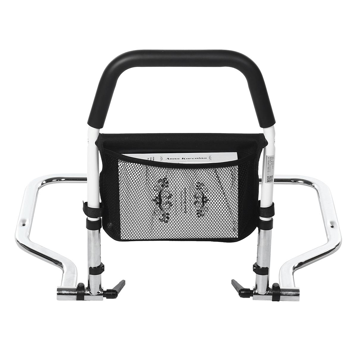 Adjustable Bed Rail Bedside Assist Handrail Handle for Elderly Patients Pregnants