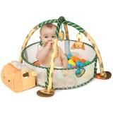 3-in-1 Marine Ball Pool Fence Baby Infant Play Mat Crawling Rug Kick Activity Gym Game Crawl Mats Rug