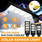 90/120/150W 160/240/320LED Solar Street Light Radar PIR Motion Sensor Wall Lamp W/Remote