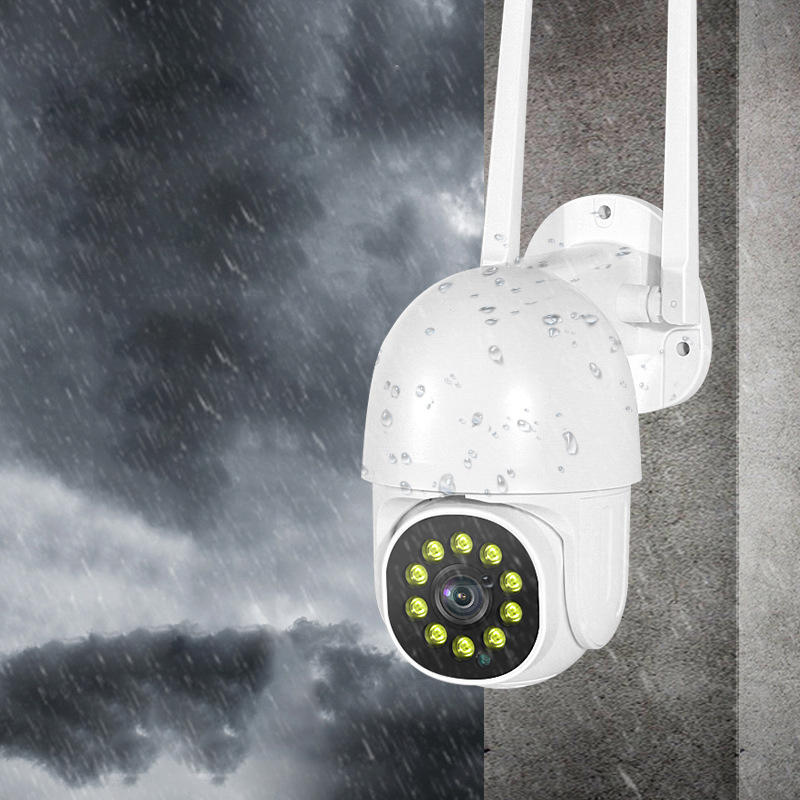 INQMEGA 1080P PTZ Speed Dome Wifi Wireless IP Camera IP66 Waterproof Night Vision Auto-Tracking Home Surveillance Outdoor IP Camera - EU Plug
