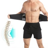 BOER Waist Support Lumbar Sports Safety Brace Belt with Metal Spring Strip for Gym Fitness Weightlifting Protector Injury Pain Relief