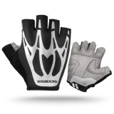 ROCKBROS Cycling Bike Half Finger Gloves Shockproof Breathable MTB Mountain Bicycle Gloves Sports Cycling Clothings