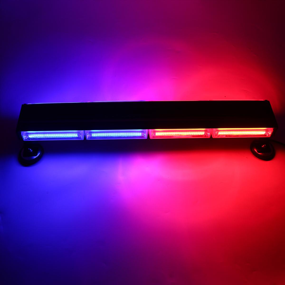 72W LED Strobe Light Bar Double Side Warning Strobe Car Hazard Light Emergency Beacon Flashing Lamp Red&Blue
