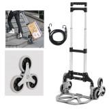 330 LB Load Capacity Folding Trolley Portable Aluminum Alloy Cart Hand Push Truck Trolley With Wheels