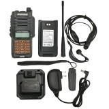 2020 Baofeng UV-XS 10W Waterproof Walkie Talkie Set Portable FM Transceiver VHF UHF Orange Button Two Way Radio