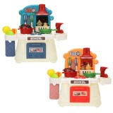 Simulation Kitchen Cooking Pretend Playing House Early Education Toy Set with Light and Sound Effect for Kids Gift