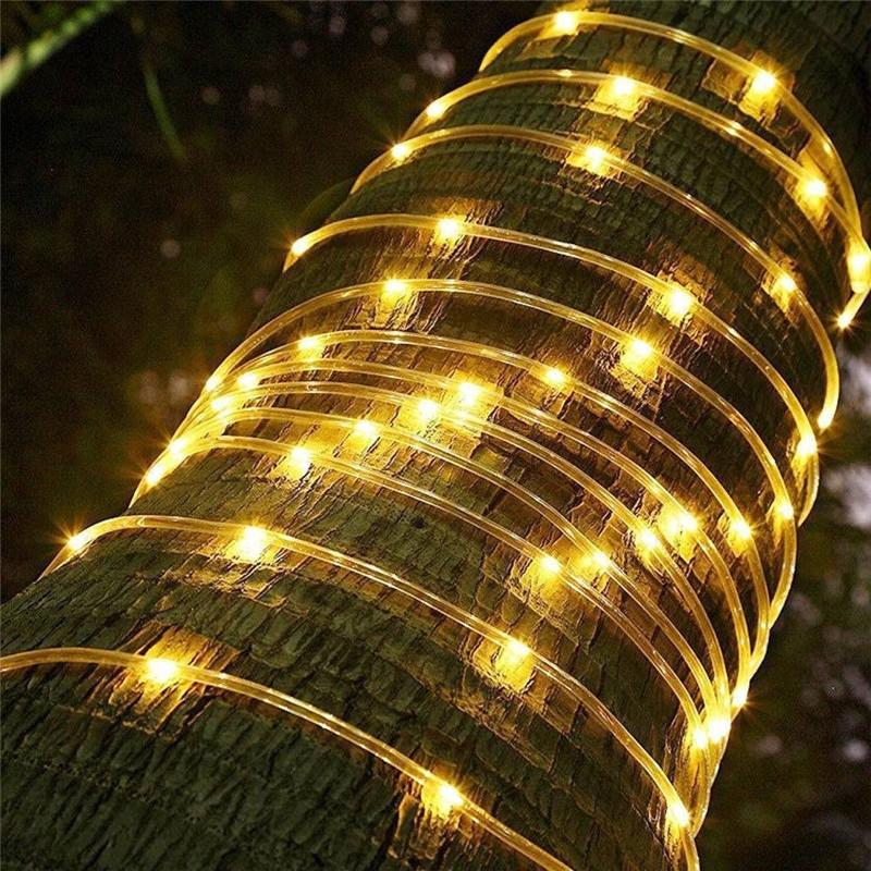 12M 8 Modes 100LED Solar String Light Rope Fairy Christmas Garden Party Outdoor Lamp