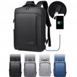 OUMANTU Outdoor Large Capacity Laptop Backpack USB Port Men Anti Theft School Bag Waterproof Leisure Travel Rucksack
