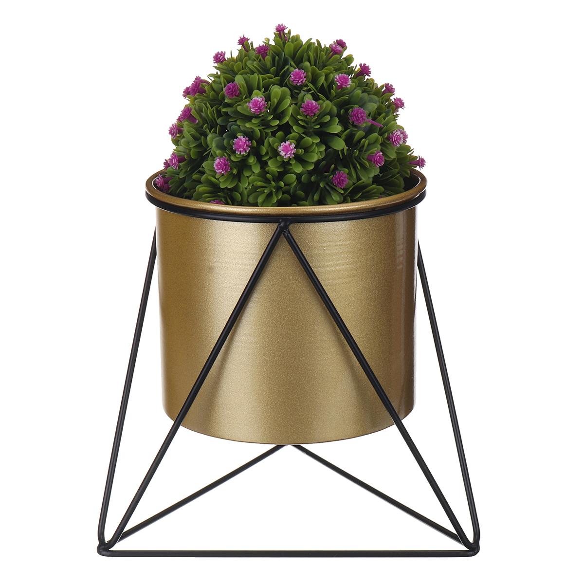 Metal Flower Pot Stand Indoor Outdoor Garden Balcony Desktop Plant Rack Iron Flower Pot Shelf Home Office Decoration