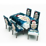 2020 Christmas Decor Tablecloth Chair Cover Set for Home Dining Table Merry Christmas Natal Navidad New Year Decoration