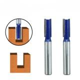 Drillpro 2Pcs 8mm Shank Flush Trim Router Bit Carbide Tip Metric Double-edged Milling Cutter For Engraving Machine Wood Milling Cutter Carpenter