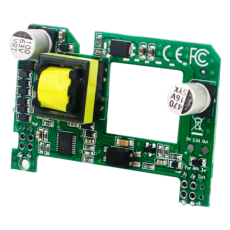 Catda Raspberry Pi PoE HAT 5V Active Power Over Ethernet HAT with Heatsink for Raspberry Pi 4 Model B/3B+
