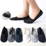 1 Pair Men Cotton Short Sock Anti-slip Boat Socks Spring Summer Autumn Ankle Socks