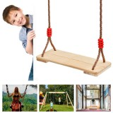 Traditional Wooden Tree Swing Seat Kit Set for Children Adult Kids Indoor Outdoor Garden Rope Wooden Swing Seat