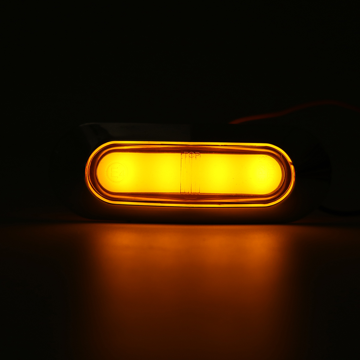 4LED Side Marker Indicator Light Clearance Lamp For 12V-24V Truck Trailer Lorry Van