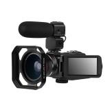 Ordro HDR-Z63 2K Ultra HD Digital Video Camera WIFI Camera Anti-shake IR Infrared Night Vision+Wide Angle+Microphone+Hood