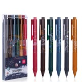 Deli A130 0.5mm Color Bullet Point Gel Pen Smooth Writing Press Ballpoint Pen Stationery Students Office Writing Supplies
